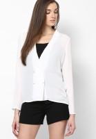 Vero Moda Women's Solid Casual White Shirt