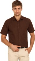 I-Voc Mens Solid Formal Brown Shirt