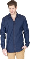 Design Roadies Mens Solid Casual Dark Blue Shirt