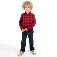 Cherry Crumble California Boys Checkered Casual Red Shirt
