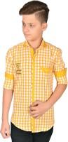 Anry Boys Checkered Casual Yellow Shirt