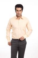 Raymond Men Solid Formal Yellow Shirt