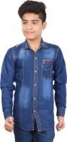 Aedi Boys Solid Casual Shirt