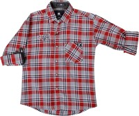 Little Man Boys Checkered Casual Shirt