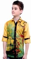 MashUp Boys Printed Party Gold Shirt