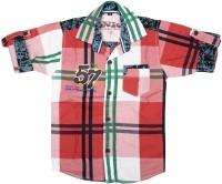 Kidzee Boys Checkered Casual Red Shirt