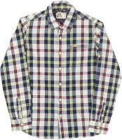 Flying Machine Boys Checkered Casual Spread Collar Shirt