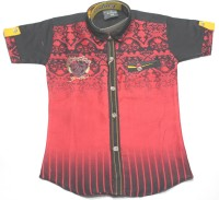 Empire Apparels Boys Embroidered Casual Red Shirt