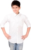 Aedi Boys Solid Casual White Shirt