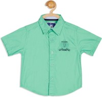 612 League Boys Embroidered Casual Green Shirt