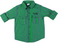 FS Mini Klub Boys Checkered Casual Green Shirt