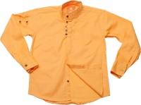 Little Man Boys Solid Casual Orange Shirt