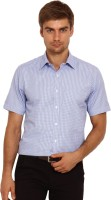 I-Voc Mens Checkered Formal Blue, White Shirt