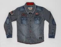 Noddy Boys Checkered Casual Dark Blue Shirt