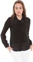 The Vanca Women's Solid Casual Black Shirt