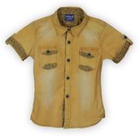 Lilliput Boys Solid Casual Yellow Shirt