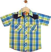 Globe Boys Checkered Casual Green, Yellow Shirt