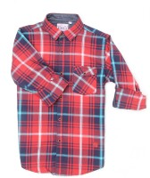 Monte Carlo Boys Checkered Casual Red Shirt