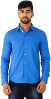 Puma Mens Solid Casual Blue Shirt