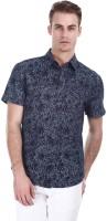 Zobello Mens Self Design Casual Multicolor Shirt