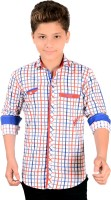 Anry Boys Checkered Casual Red, Blue Shirt