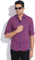 The Indian Garage Co. Mens Checkered Casual Red Shirt