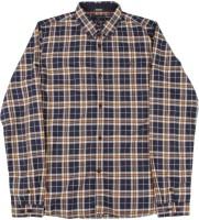 Indian Terrain Boys Checkered Casual Dark Blue, Brown Shirt