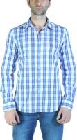 Parx Men's Checkered Casual Blue Shirt thumbnail