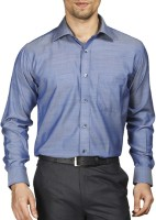 Raymond Men Solid Formal Blue Shirt