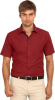 I-Voc Mens Solid Formal Red, Dark Blue Shirt