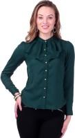 Sassafras Women's Solid Casual Mandarin collar Shirt