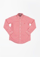 Gant Boys Checkered Casual White, Red Shirt