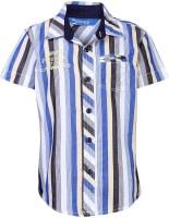 Dreamszone Boys Striped Casual Blue, Yellow Shirt