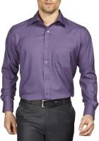 Raymond Men Solid Formal Purple Shirt
