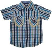 Globe Born Lucky Boys Checkered Casual White, Blue Shirt