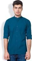 Highlander Men's Solid Casual Blue Shirt