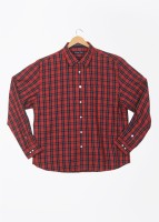 Allen Solly Mens Checkered Casual Red Shirt