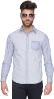 Mufti Mens Solid Casual Blue Shirt
