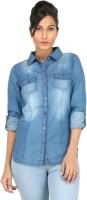 Eimoie Girls Solid Casual Dark Blue Shirt