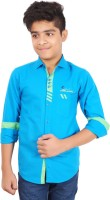 Aedi Boys Solid Casual Ribbed Collar Shirt