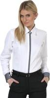 Dazzio Women's Solid Formal White, Grey Shirt