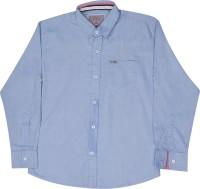 Gini & Jony Boys Printed Casual Blue Shirt
