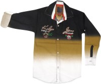 Kidzee Boys Self Design Casual Multicolor Shirt