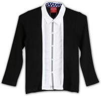 Lilliput Boys Solid Casual Black Shirt