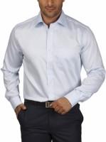 Park Avenue Men's Striped Formal Light Blue Shirt