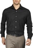 Raymond Mens Checkered Formal Black Shirt