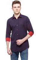 Fasnoya Mens Printed Casual Purple, Red Shirt