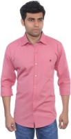 Studio Nexx Mens Solid Casual Pink Shirt