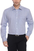 Raymond Men Striped Formal Blue Shirt