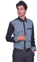 Leaf Mens Checkered Casual Multicolor Shirt